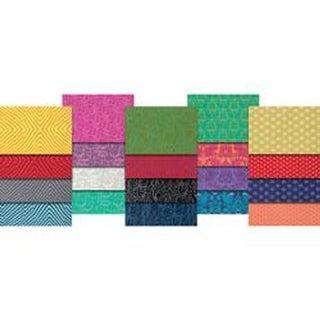 """20pcs - True Colors-Tula Pink 18""""X21"""" Fat Quarters"""
