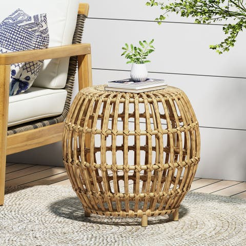 Ottawa Wicker Side Table by Christopher Knight Home