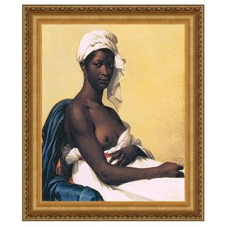 25.25X29.25 PORTRAIT OF A NEGRESS 1800 DESIGN TOSCANO portrait african american