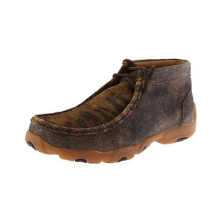 Twisted X Casual Shoes Boys Kid Driving Mocs Distressed Tiger YDM0019