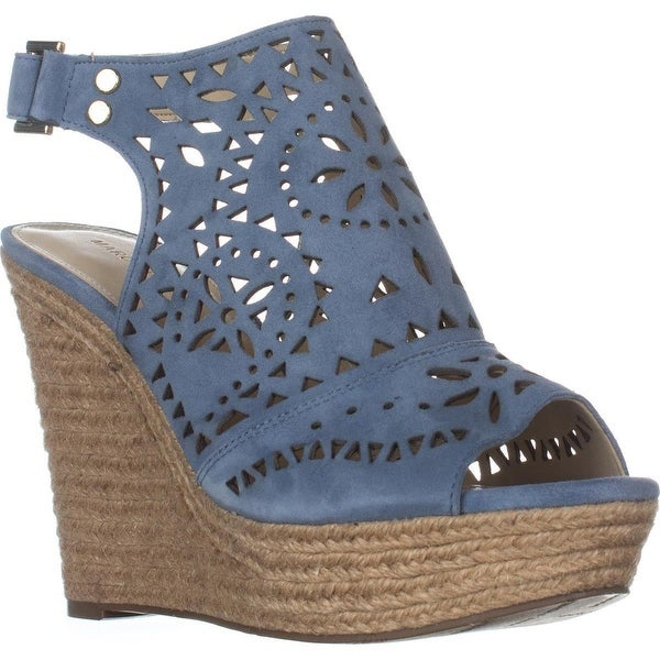 Marc Fisher Harlea Slingback Mule Espadrilles, Medium Blue
