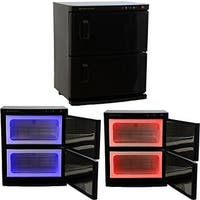 LCL Beauty Black High Capacity Hot Towel Cabinet and Ultraviolet Sterilizer