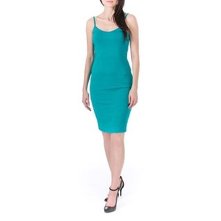 One Clothing Womens Juniors Jersey Double-V Tank Dress