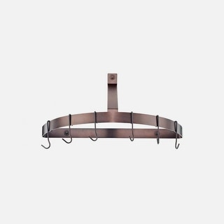 Cuisinart CRHC-22ORB Chef's Classic Half-Circle Wall-Mount Pot Rack, Oil-Rubbed Bronze - Oil-rubbed Bronze