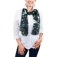 Ungaro UN7018 S7789 Tie Dye Print Green Silk Scarf - 71-27