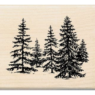 """Inkadinkado Mounted Rubber Stamp 2.25""""X2.5""""-Stand Of Pines