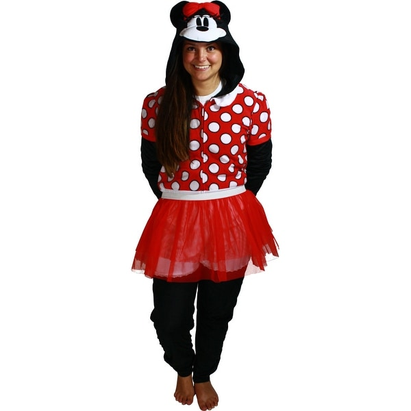 Shop Minnie Mouse Dress Women\'s Cosplay Union Suit - Free Shipping ...