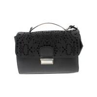 4a15f753177b Catherine Malandrino Womens Lola Shoulder Handbag Faux Leather Laser Cut -  Small