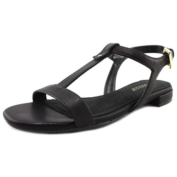 Aerosoles Buckle Down Women Open Toe Leather Black Sandals