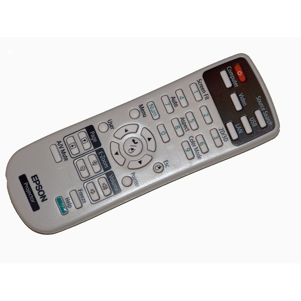 Epson Remote Control Originally Shipped With: EB-W16, EB-W16SK EH-TW510 EH-TW550