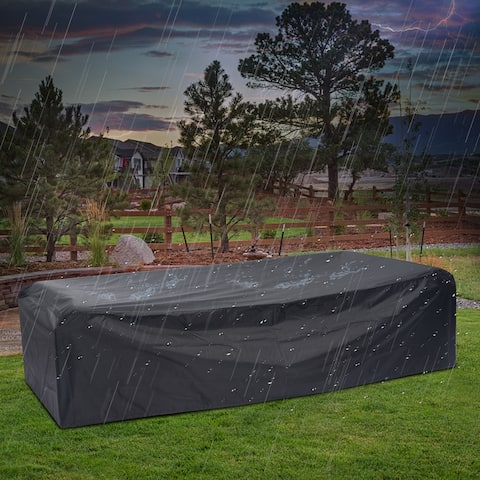 Kinbor Large Patio Furniture Cover, Outdoor Sectional Sofa Cover