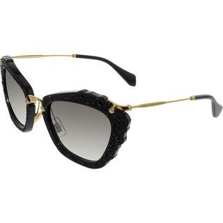 Miu Women's Gradient MU04QS-1AB0A7-55 Black Butterfly Sunglasses