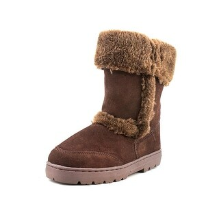 Style & Co Witty Women Round Toe Suede Brown Winter Boot