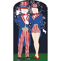 Aunt And Uncle Sam Stand-In Life-Size Cardboard Stand-Up
