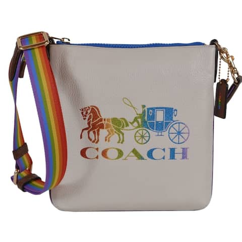 Coach 2505 Jes Slim PRIDE Rainbow Horse Buggy Leather Crossbody Bag