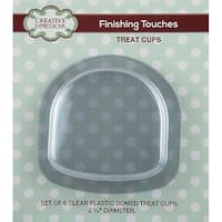 """Clear 2.75"""" Diameter - Creative Expressions Domed Treat Cups 6/Pkg"""