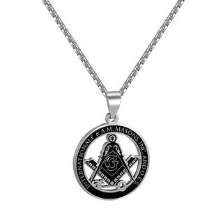International Free & Accepted Masons INC Pendant Necklace Stainless Steel Custom