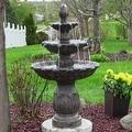 Sunnydaze Classic Tulip 3 Tier Fountain, 46 Inch Tall - Thumbnail 2