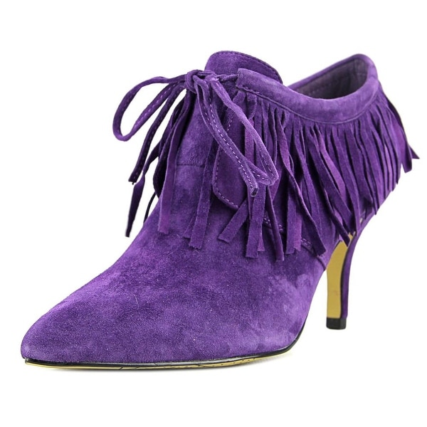 Bella Vita Diem Women Pointed Toe Suede Purple Ankle Boot