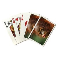 Baby Orangutan Kissing - Lantern Press Photography (Poker Playing Cards Deck)