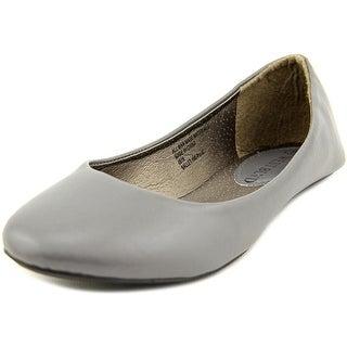 West Blvd Ballet Women Round Toe Synthetic Gray Ballet Flats