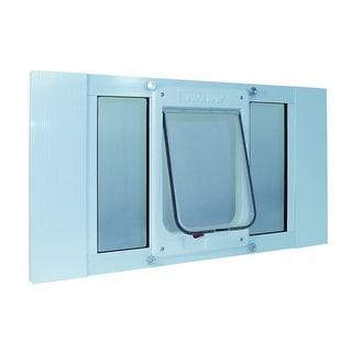 Aluminum Sash Window Cat Flap - 27-32 Inches