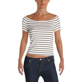 Denim & Supply Ralph Lauren Womens Casual Top Striped Ribbed