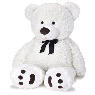 JOON Huge Teddy Bear With Ribbon, Tuxedo Edition, White