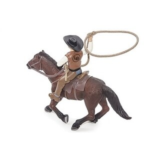 Little Buster Toy Roping Horse Rider Durable Plastic Brown 500247