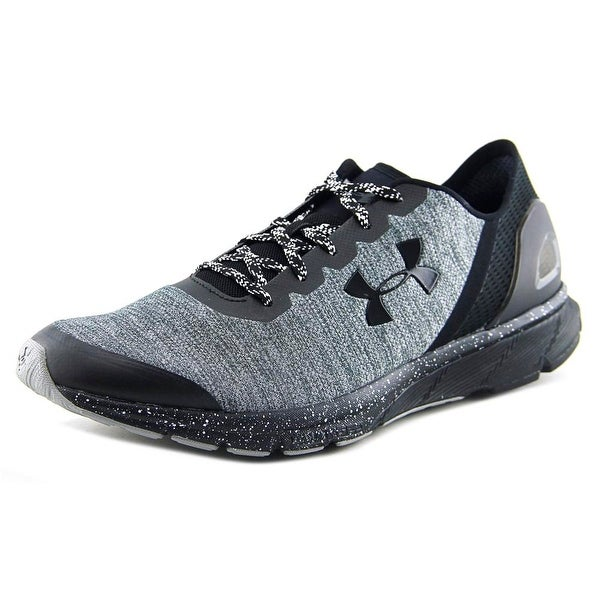 Under Armour Charged Escape Men Round Toe Synthetic Black Running Shoe