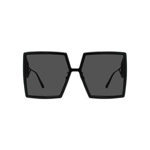 Oversized Dior Square Smoke Injection Montaigne Plastic Sunglasses - XL
