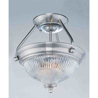 Volume Lighting V7864 3-Light Semi-Flush Ceiling Fixture - Brushed nickel