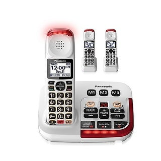Panasonic KX-TGM420W + (2) KX-TGMA44W 3 Handset Amplified Cordless Phone