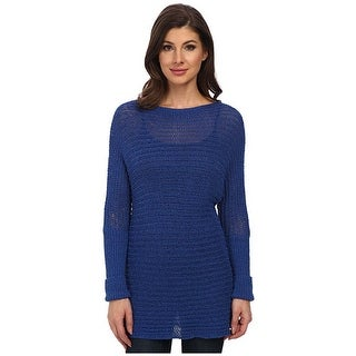 Tommy Bahama Womens Sweetzer Dolman Sleeve Blue Splash Small Pullover