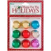 "Shiny; Assorted Colors - Mini Glass Ball Ornaments 1"" 9/Pkg"