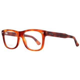 Gucci GG 1135 056 Light Havana Brown Unisex Square Eyeglasses 54mm - light havana brown - 54mm-18mm-145mm