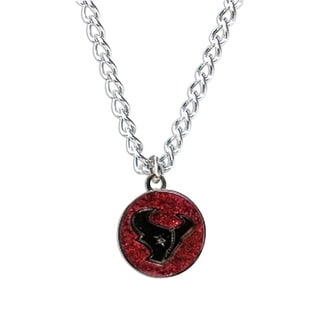 Cleanlapsports Houston Texans Glitter Necklace