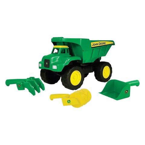Tomy 46510 John Deere Preschool Dump Truck Sand Toy, Plastic, Green/Yellow