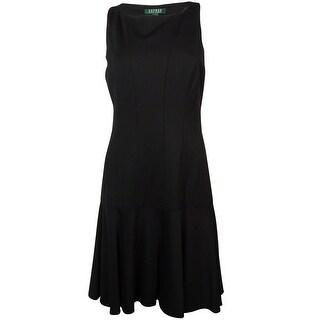 Lauren Ralph Lauren Women's Dropped-Waist Ponte Dress