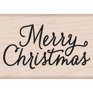 "Hero Arts Mounted Rubber Stamp 1.5""X2""-Merry Christmas"