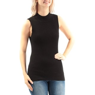 HOOKED UP $19 Womens New 3437 Black Turtle Neck Sleeveless Top S Juniors B+B