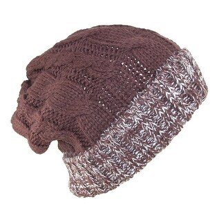 David & Young Cable Knit Throwback Style Beanie Hat - One size