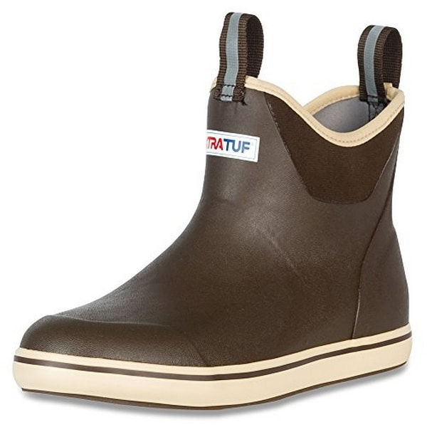 """Xtratuf Mens Ankle Deck Boot 6.5"""", Chocolate/Tan"""
