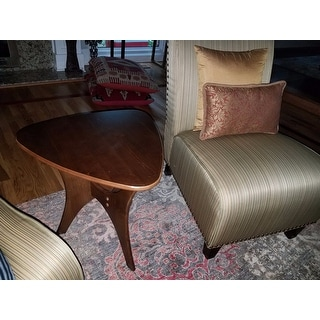 Carson Carrington Vintrosa Brown Triangle Wood Side Table