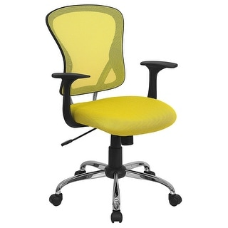 Brielle Mid-Back Yellow Breathable Mesh Swivel Home/Office Task Chair w/Arms