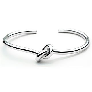 Fashionvare Womens Stainless-Steel Simple Knot Cuff Silver