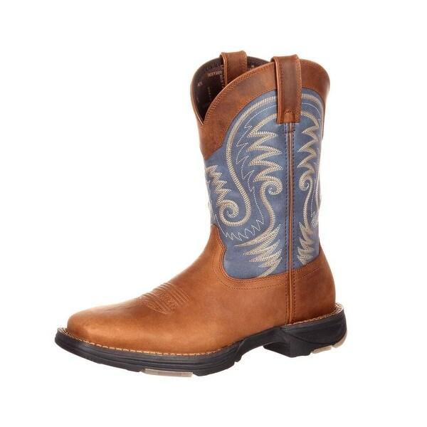 Durango Western Boots Mens Ultralite Square Toe Rocker Tan