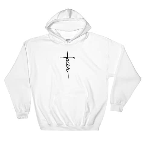 Faith Cross Pullover Pocket Hoodie