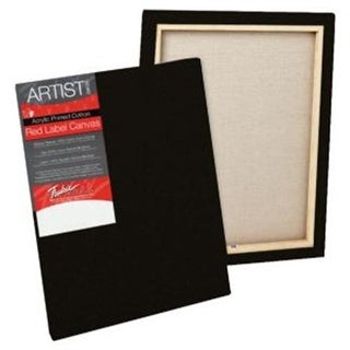 Red Label 8 in. x 10 in. Standard Stretched Black Canvas - Pack of 6