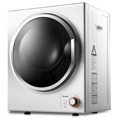 Costway Electric Tumble Compact Cloth Dryer Stainless Steel Wall